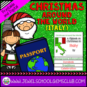 Christmas Around the World Research Activities (Christmas in Italy Flipbook)