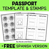 Christmas Around the World Passport Templates