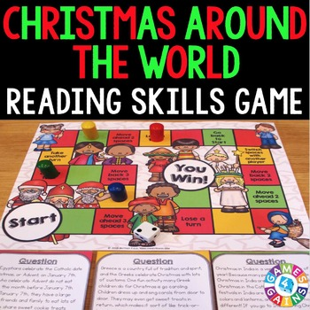 Christmas Around the World: Christmas Reading Comprehension Questions & Passages