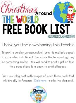 Christmas Around the World Book List