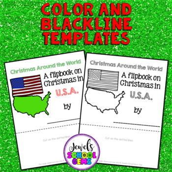 Christmas Around the World Research Activities (Christmas in the USA Flipbook)