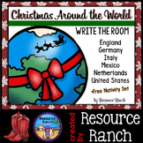 Christmas Around the World Write the Room Activities Bundle