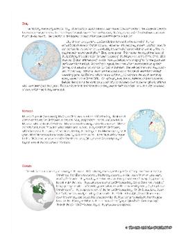 Christmas Around the World - A Global Reading Adventure - FREEBIE!