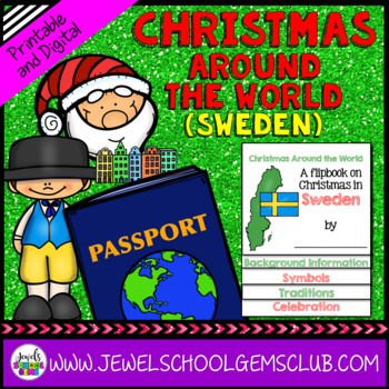 Christmas Around the World Research Activities (Christmas in Sweden Flipbook)