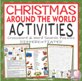 Christmas Around the World Activities Crossword Puzzle Word Search