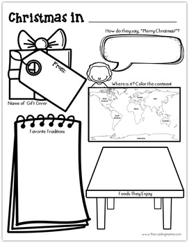 Christmas Around the World Activity Pages