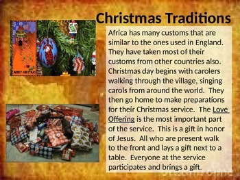 Christmas Around the World Africa