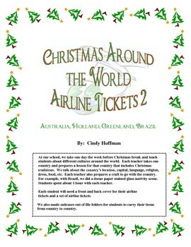 Christmas Around the World Airline Tickets 2