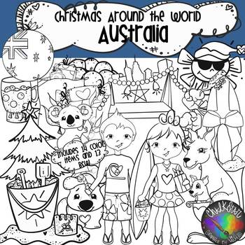 Christmas Around the World- Australia Clip Art