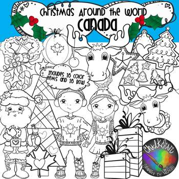 Christmas Around the World- Canada Clip Art