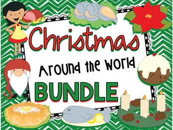Christmas Around the World - BUNDLE - Facts, Carols, Worksheets