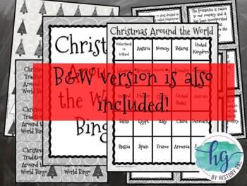 Christmas Around the World Bingo