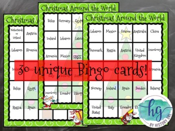 Christmas Around the World Bingo (works with Distance Learning)