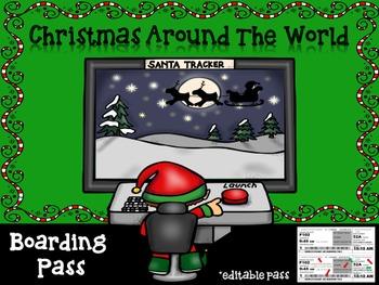 Christmas Around the World ~ Boarding Pass
