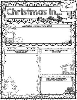 Christmas Around the World: Brazil Scrapbook