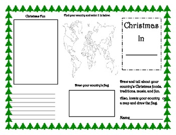 christmas traditions around the world worksheets