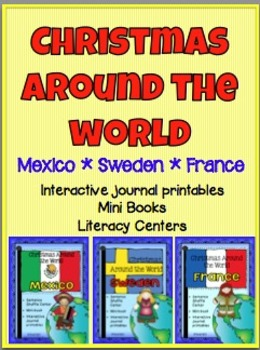 Christmas Around the World Mexico Sweden France minibook foldables fluency ctr