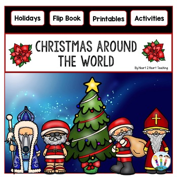 Christmas Around the World Flip Book for 8 Countries: Australia, Canada, England