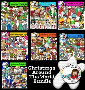 Christmas Around the World Bundle Clip-Art Set  More than 400 images!