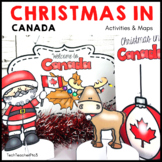 Christmas Around the World CANADA map traditions food flags