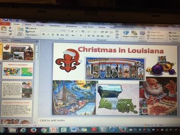 Cajun Louisiana Christmas -  Christmas Around the World Po
