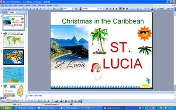 Christmas Around the World - Christmas in St. Lucia - PowerPoint