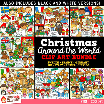 Christmas Around the World Christmas Clip Art Bundle