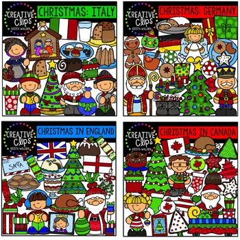 Christmas Around the World Clipart Bundle {Creative Clips Clipart}