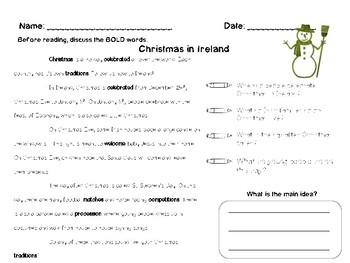 Christmas Around the World Close Reading