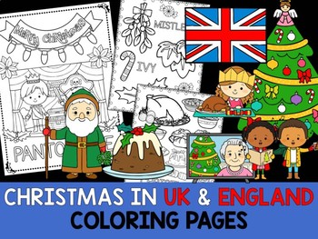 Christmas Around the World Coloring Pages - The Crayon Crowd - England & UK