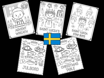 Christmas Around the World Coloring Pages - The Crayon Crowd - Sweden