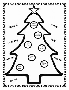 Christmas Around the World Coloring Sheet