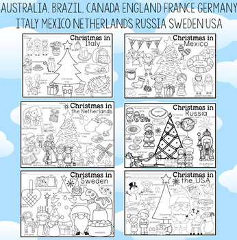 Around the World Coloring Pages and Vocabulary Posters