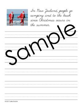 Christmas Around the World - Copywork - Print and Cursive - Handwriting