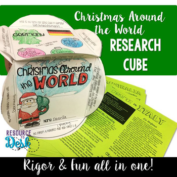 Christmas Around the World  - Craftivity Cube Social Studi