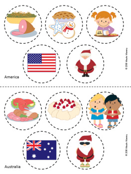 Christmas Around the World Cut and Paste
