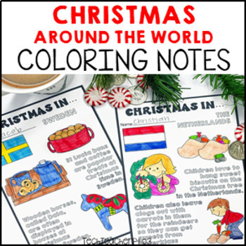 Christmas Around the World Doodle Pack - doodle your way through the world