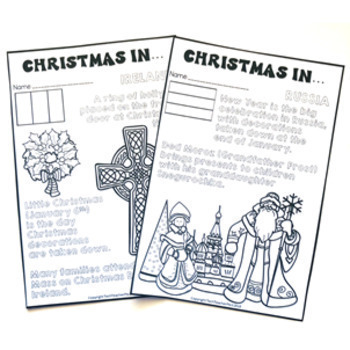 Christmas Around the World Coloring Pages