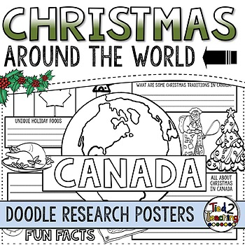 Christmas Around the World Doodle Posters
