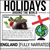 Winter Holidays   Christmas   ENGLAND   Powerpoint   Distance Learning