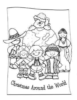 Christmas Around the World Editable Book