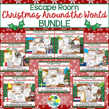 Christmas Around the World Escape Room BUNDLE