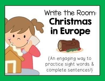 Christmas Around the World: Europe- Write the Room
