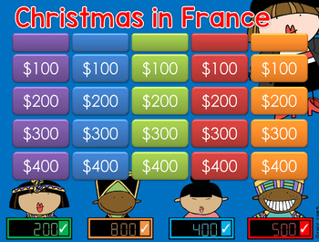 Christmas Around the World - FRANCE - Jeopardy Style Game Show 2nd-4th Gr