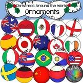 Christmas Around the World- Flag Ornaments Clip Art- Chalk