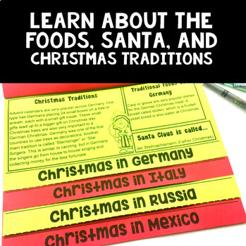 Christmas Around the World Flip Book: An Interactive Activity for Grades 2-4