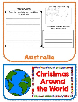 Christmas Around the World Flip Book Research Project and Activities