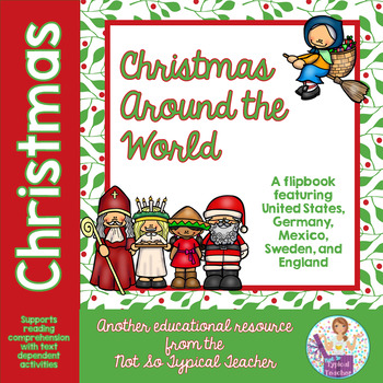 Christmas Around the World Flip Book with Comprehension Ac