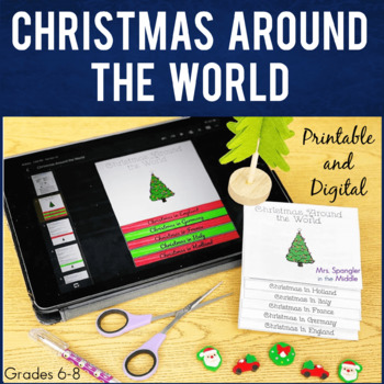 Christmas Around the World Flipbook + Mini Writing Project!