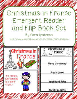 Christmas Around the World: France Emergent Easy Reader and Flip Book